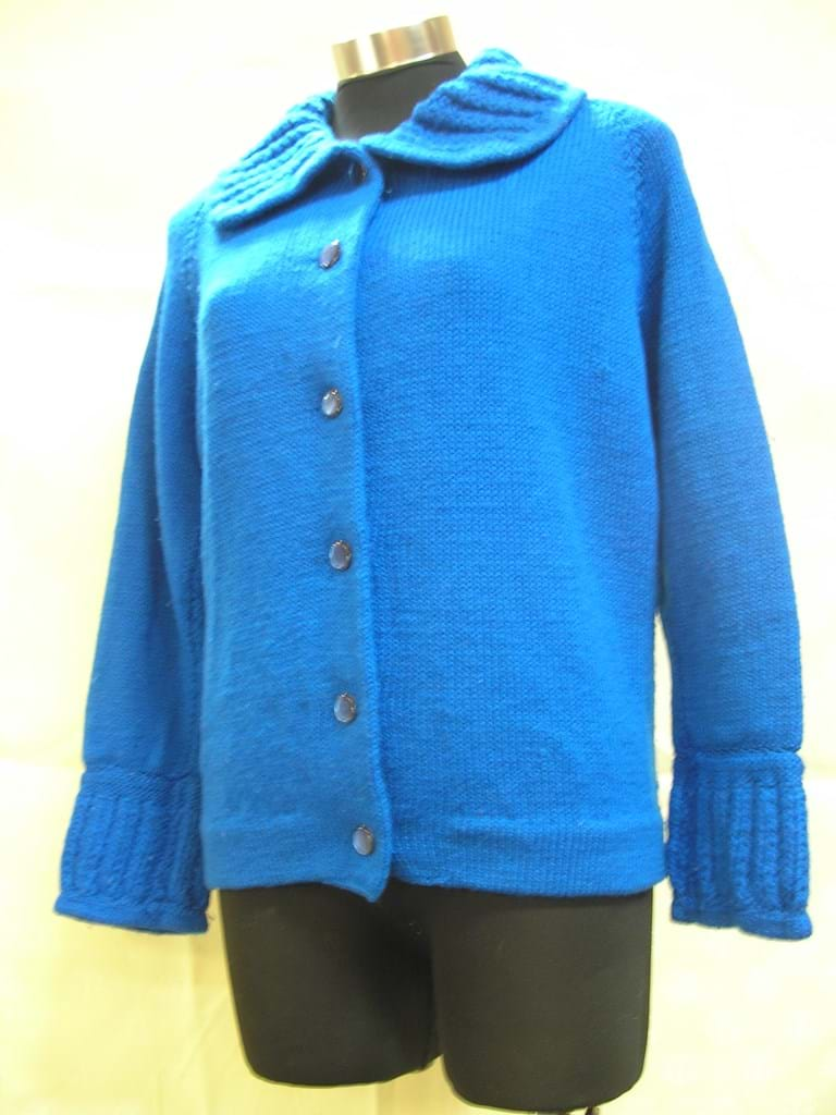 1960s blue wool cardigan