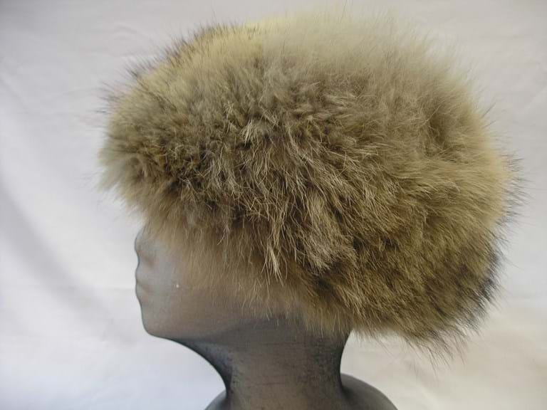 1960s genuine arctic fox fur hat