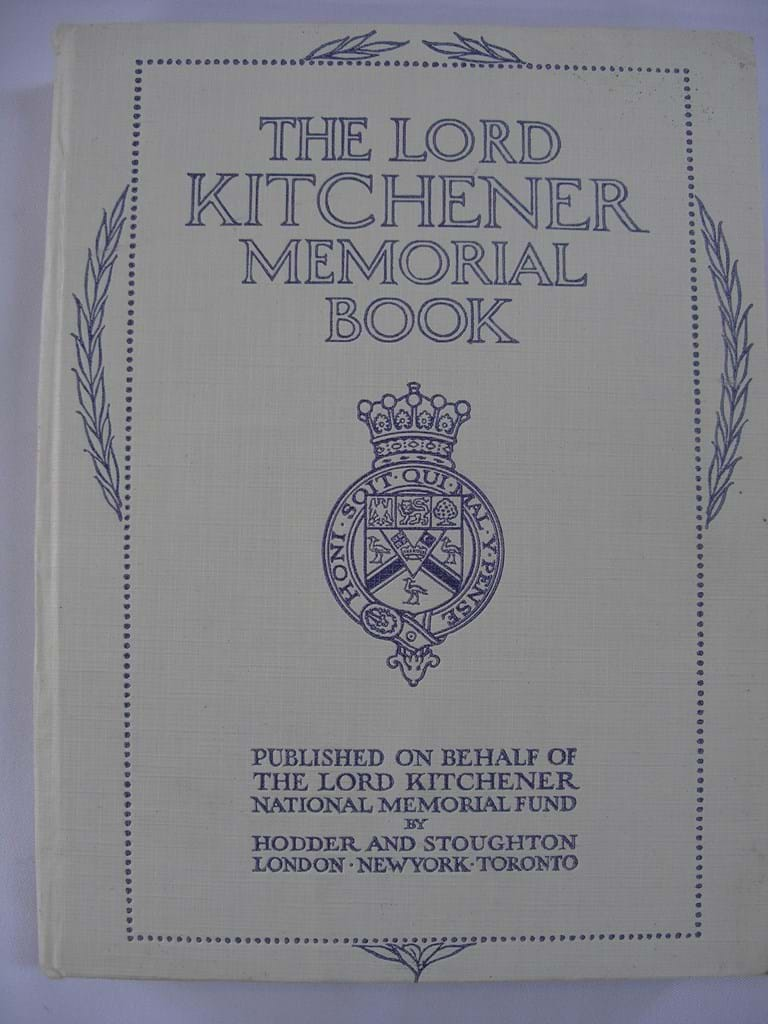 Lord Kitchener memorial book 1st Ed