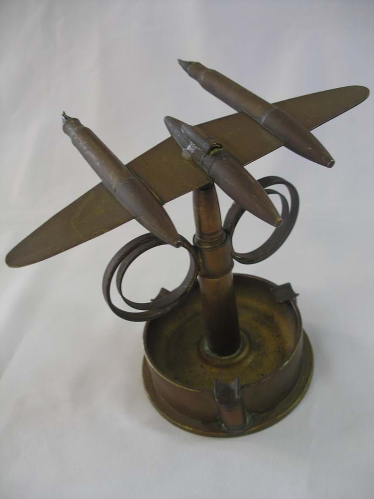 WWII trench art plane