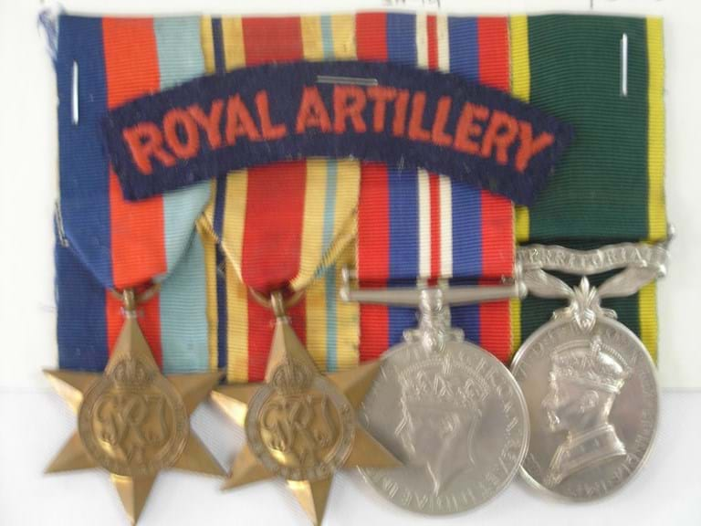 WWII British R A medals group