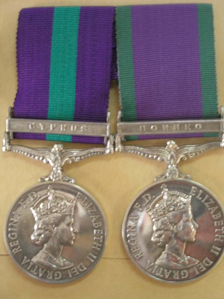 RAF medals Cyprus and Borneo