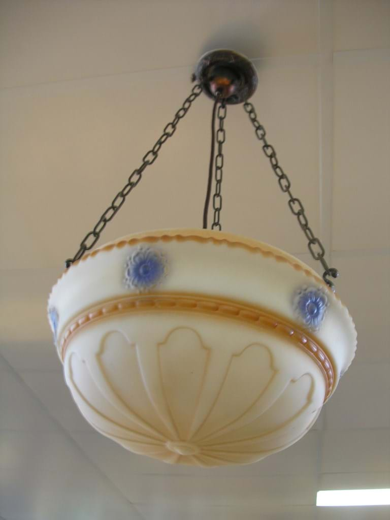 Edwardian glass suspension light