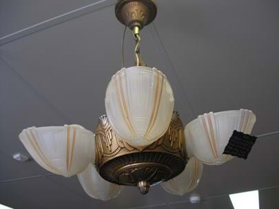 Art deco suspension light