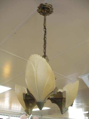 Crown Crystal art deco suspension light