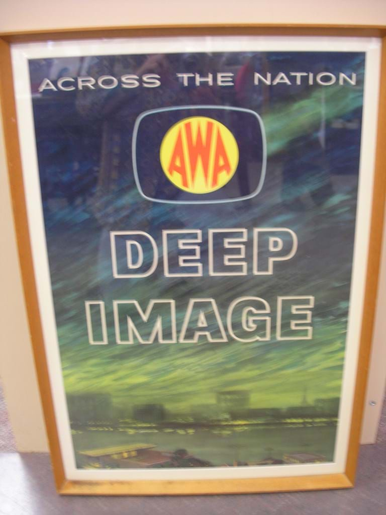 "1960s AWA ""Deep Image"" television sets advertising poster"