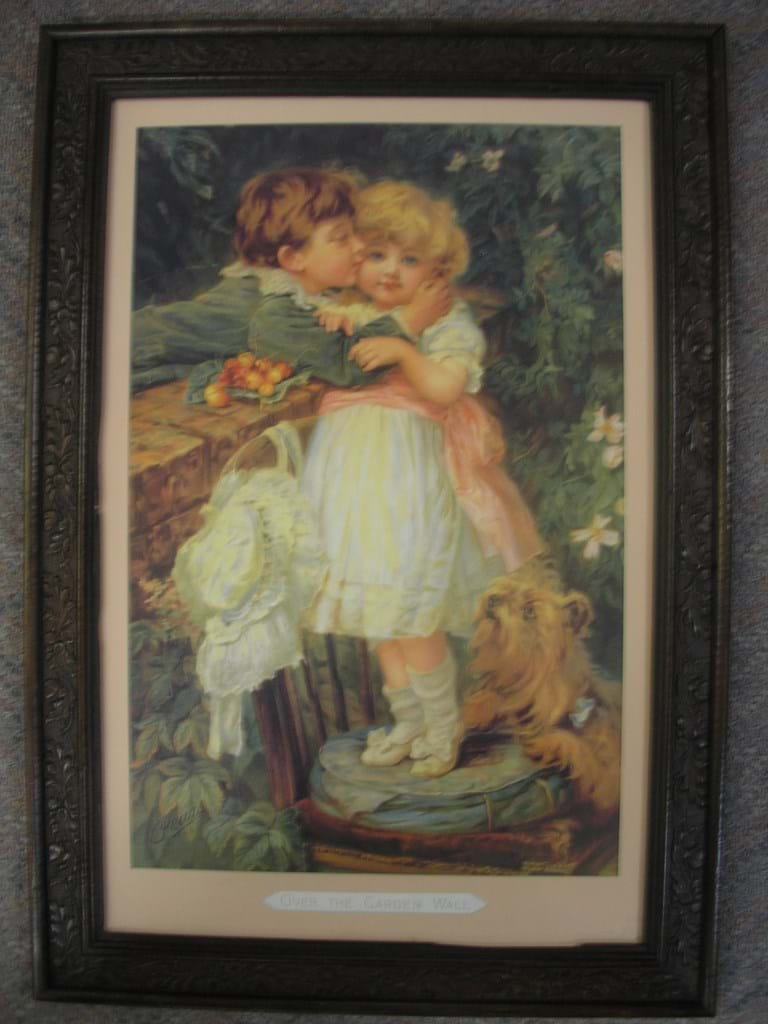 "c1900 original Pears print ""Over The Garden Wall"""