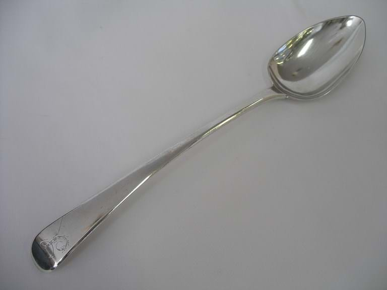 Georgian silver basting spoon William Bateman I