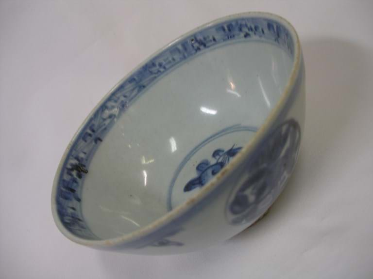 Chinese late Ming blue and white bowl