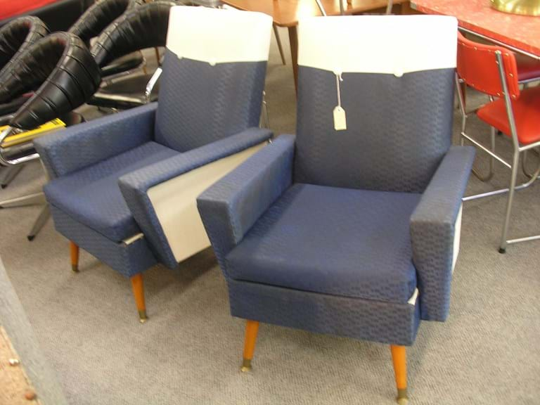 Early - mid 1960s pair armchairs