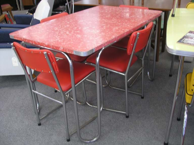 1950s five piece chrome dinette setting