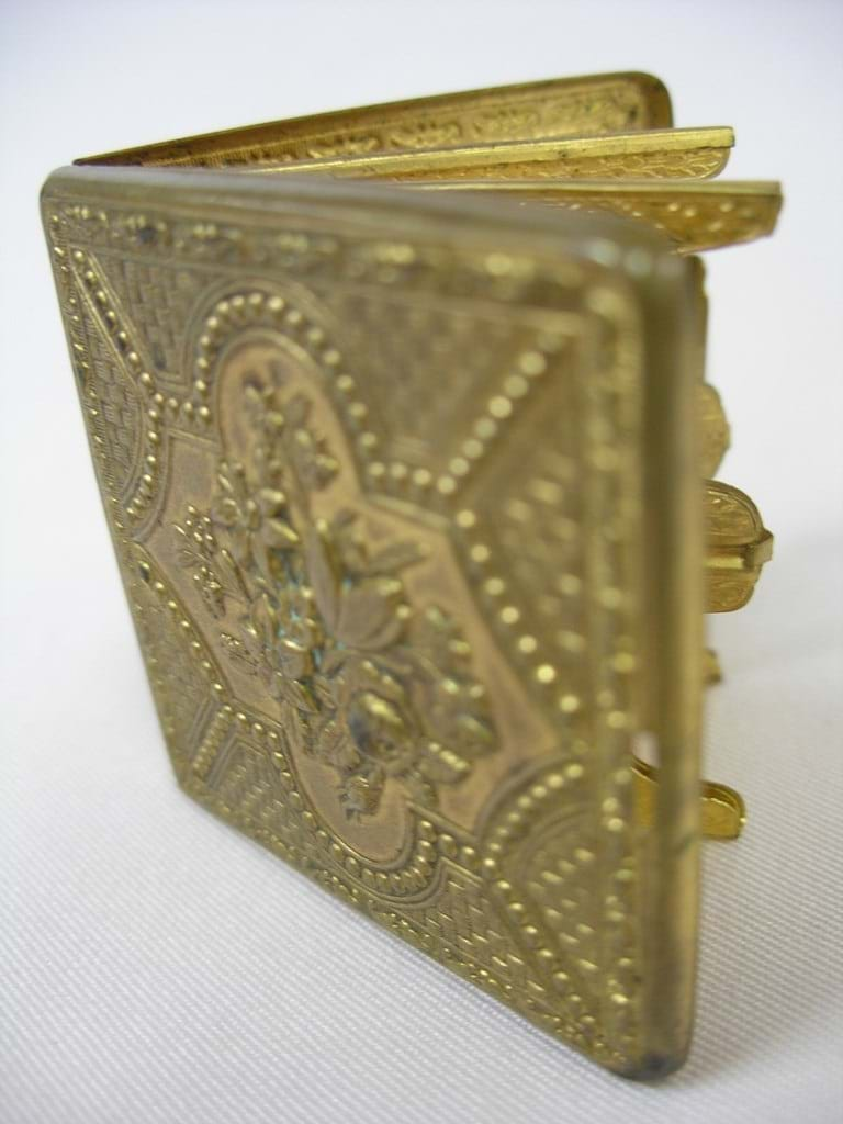 Victorian brass needlecase William Lewis