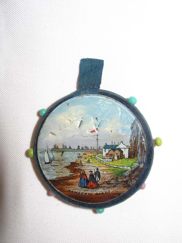 c1860 glass covered pinwheel Ramsgate