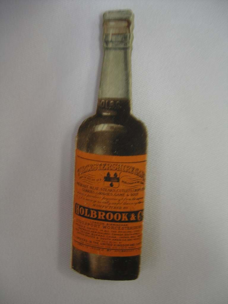 1920s sewing needlecase advertising Holbrooks sauce