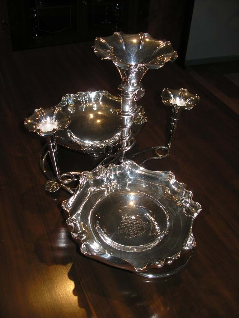 1920 silver plated epergne