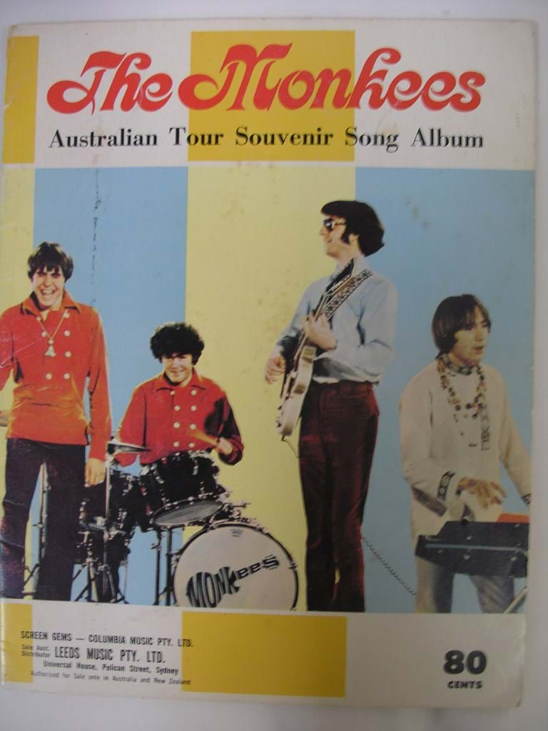 1968 Monkees Australian Tour souvenir song album