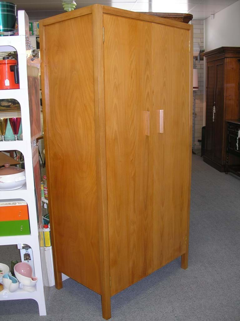 c1960 coachwood two door wardrobe by Fred Ward