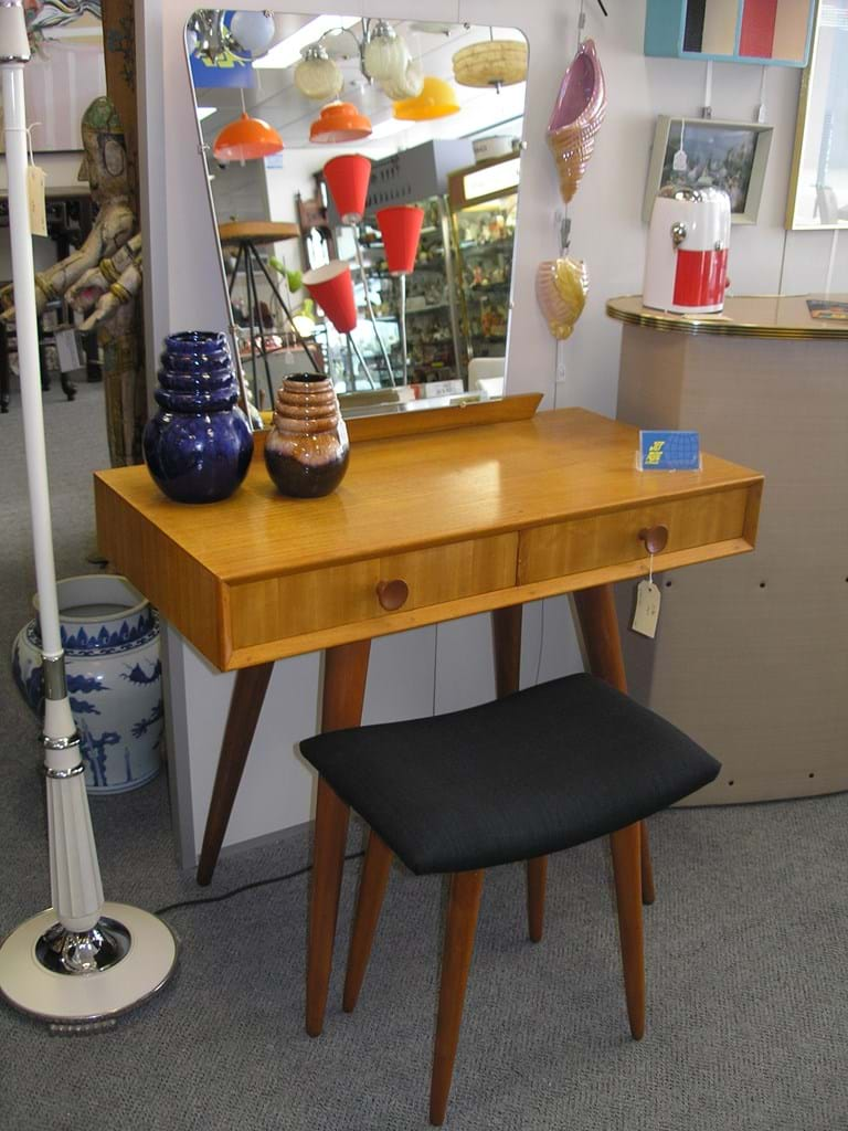 50s Parker dressing table and stool