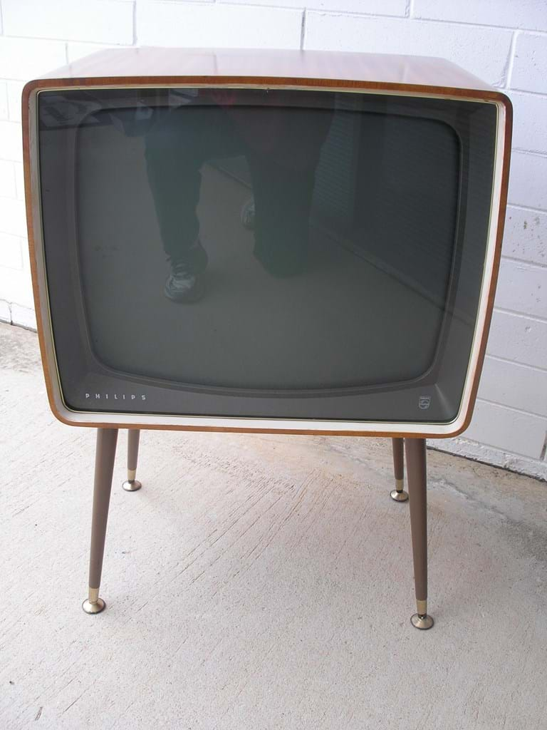 Early 1960s Philips black and white television set