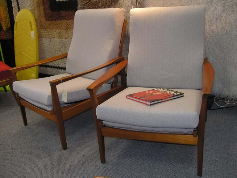 "1960s pair ""Flermont"" armchairs by Fler"