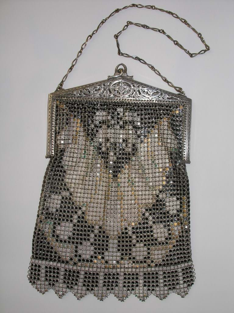 1920s/1930s art deco mesh purse