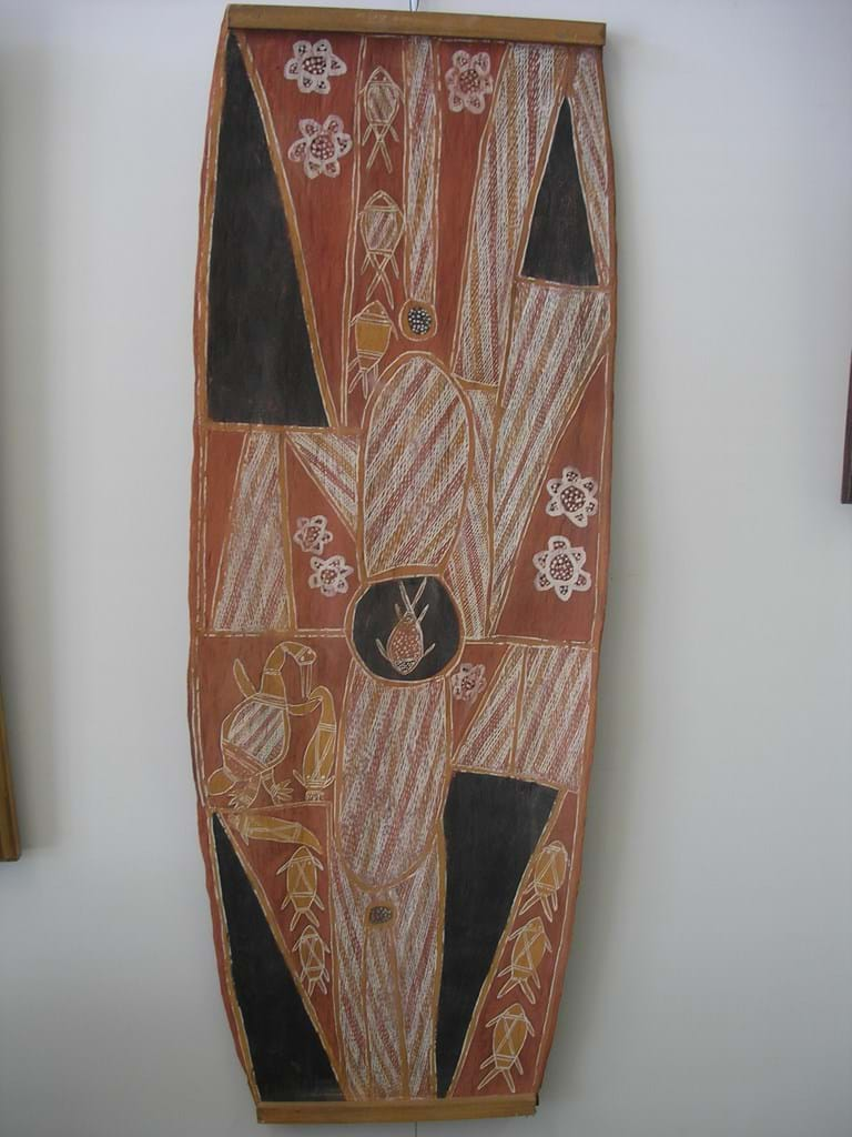 Bob Bilinyarra ochres on bark​