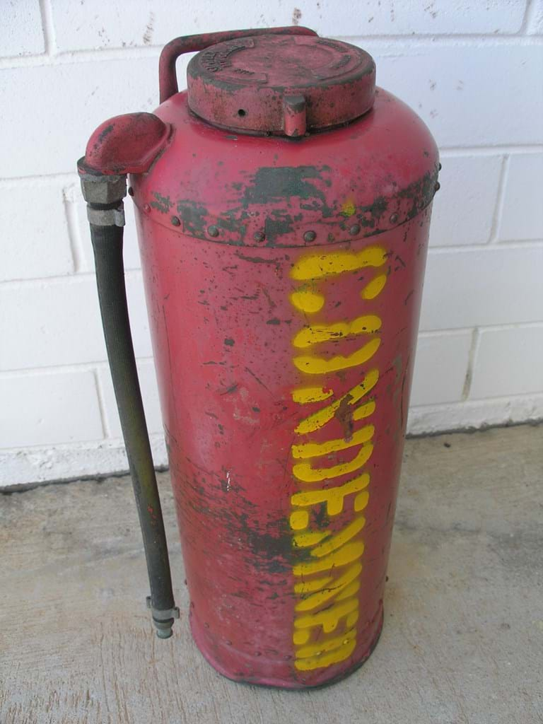 1950s steel fire extinguisher