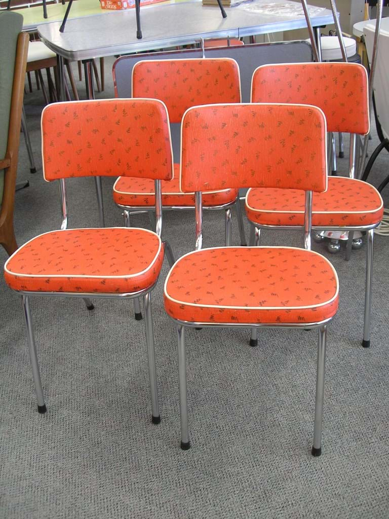 Chrome Dinette Chairs retro and vintage dining & kitchen furniture sold