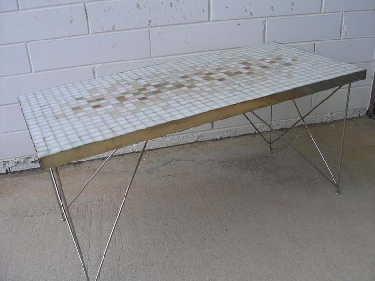 1960s tile-top side table Michael Hirst