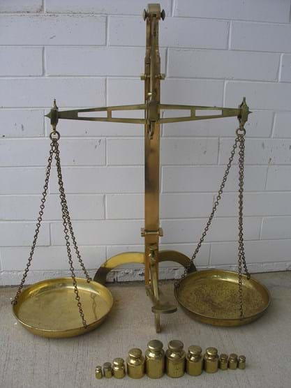 HUGE set Avery brass scales & weights