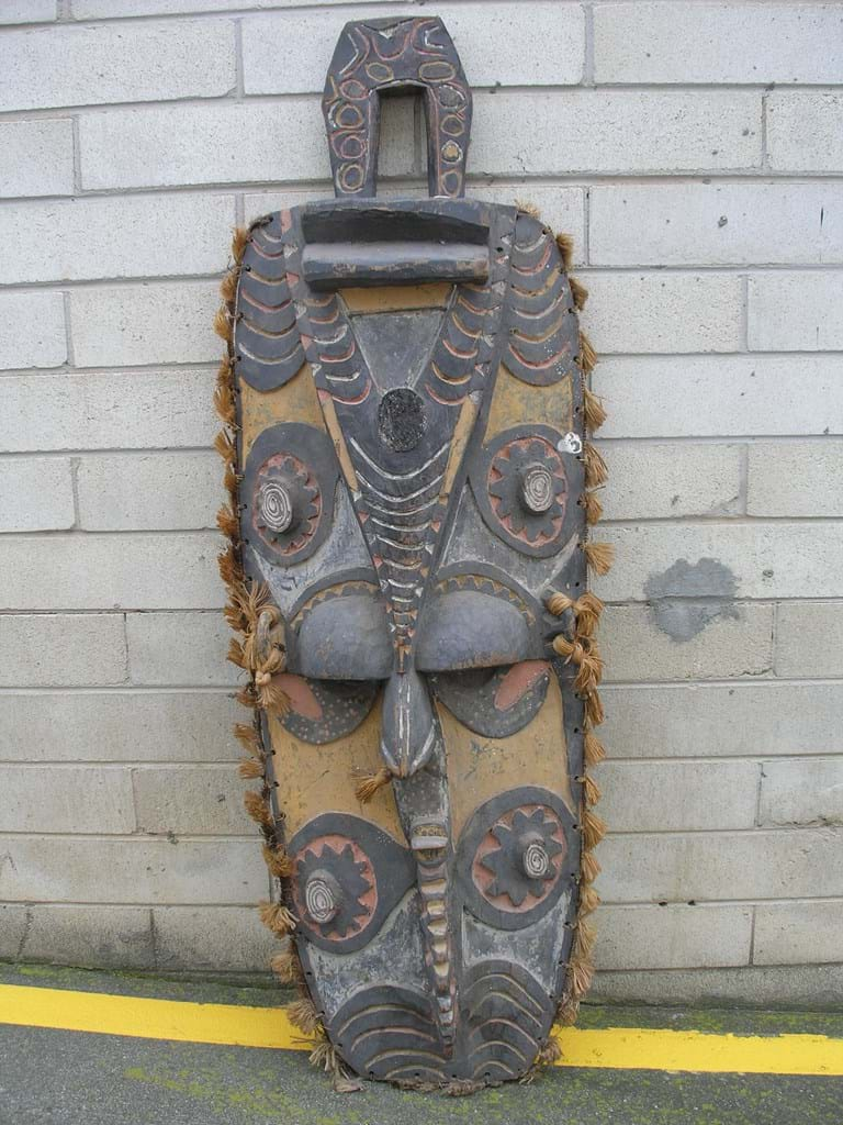 Sepik gable mask