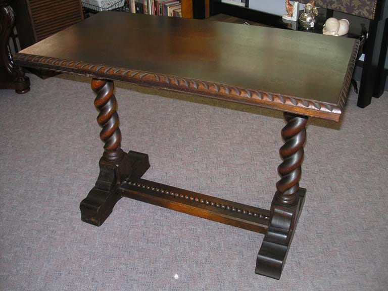 1920s oak barley twist console table