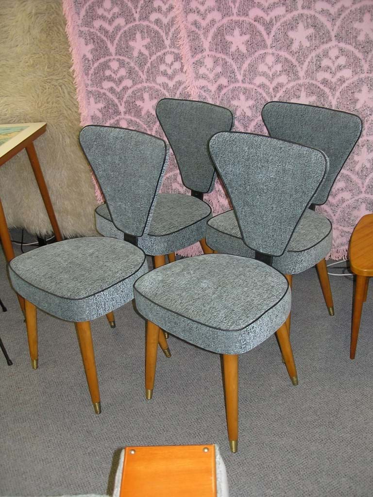1950s set of four dining chairs