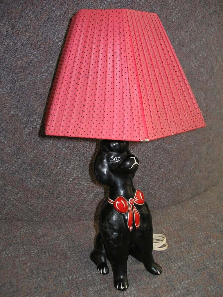Barsony Poodle lamp