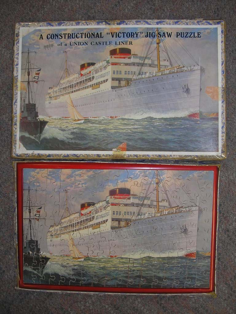 Ocean liner wooden jigsaw toy