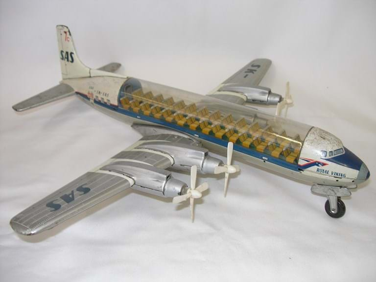 1950s Japanese tin toy DC7 plane