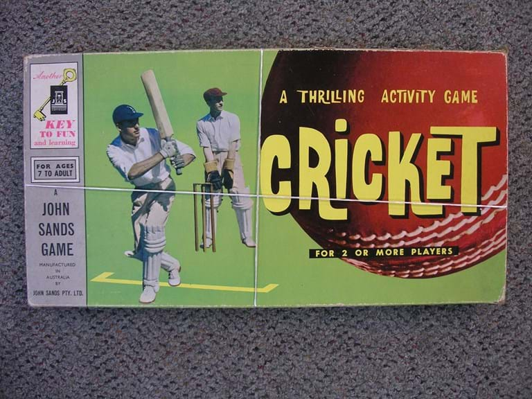 1960s cricket board game