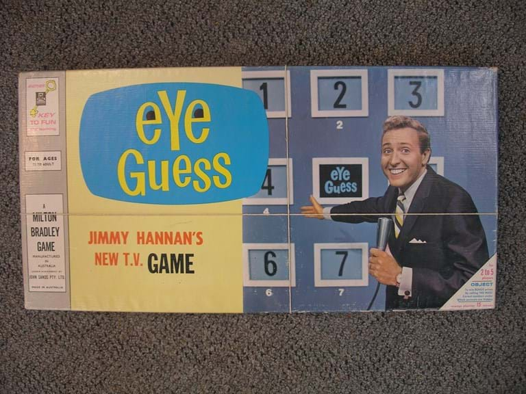 1960s Eye Guess TV show board game