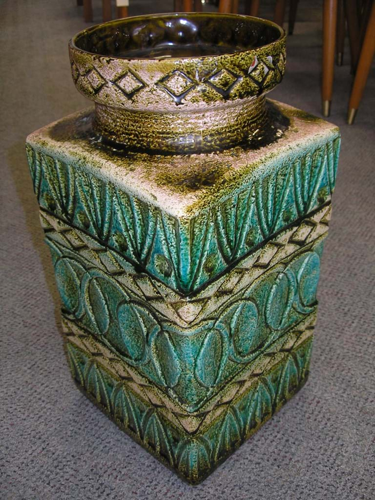 c1960s large ceramic West German floor vase