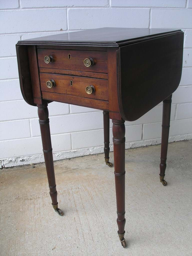 Victorian mahogany miniature pembroke table