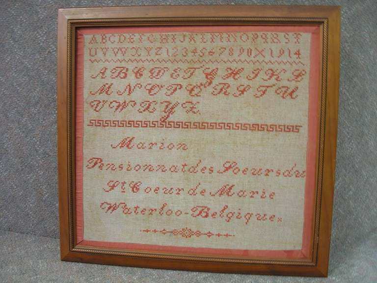 c1914 Belgian Waterloo sampler
