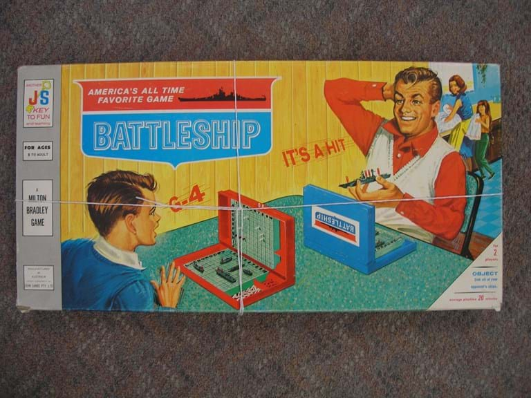 1970s Battleship board game