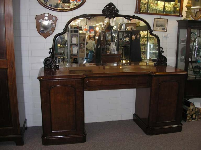 Victorian mahogany mirror backed sideboard