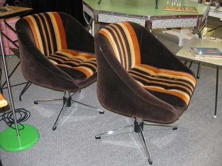 Pair 70s tub chairs by Ultra Furniture