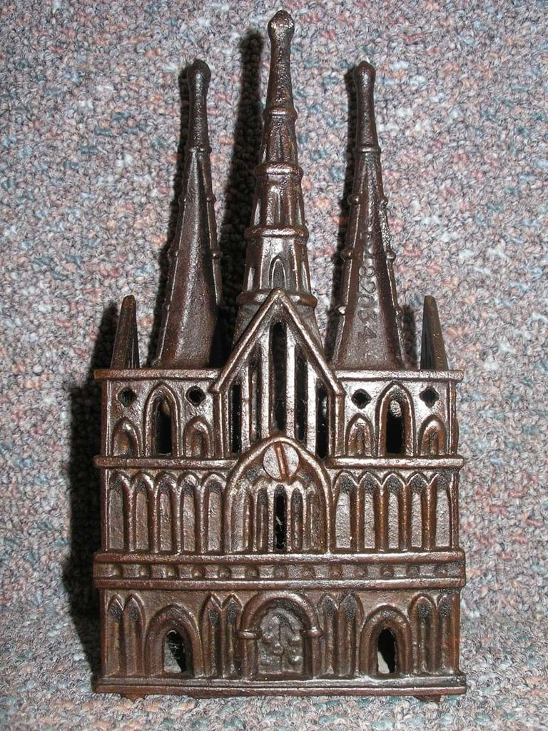 Cast iron Lichfield Cathedral novelty money box
