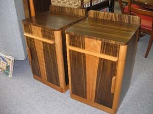 Pair c1950s bedside cabinets