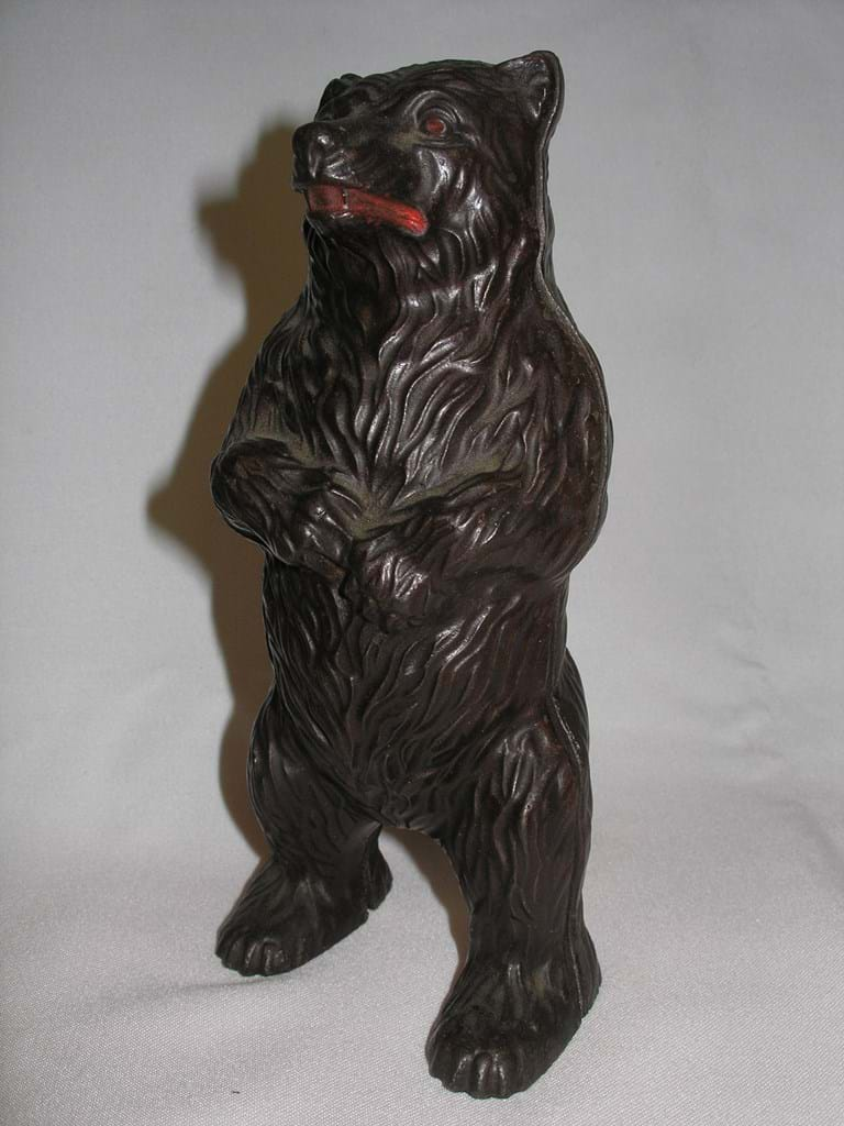 John Harper Ltd cast iron money box Bear On Hind Legs