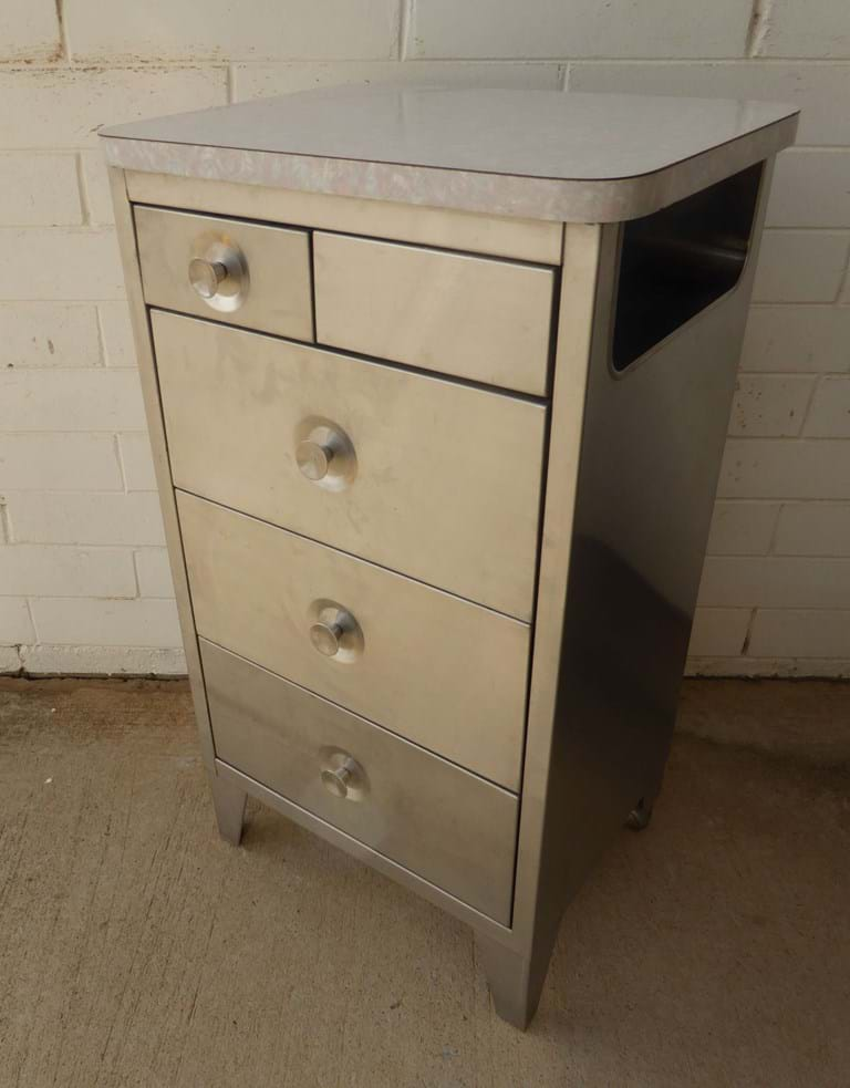 1960s four drawer hospital chest by Namco