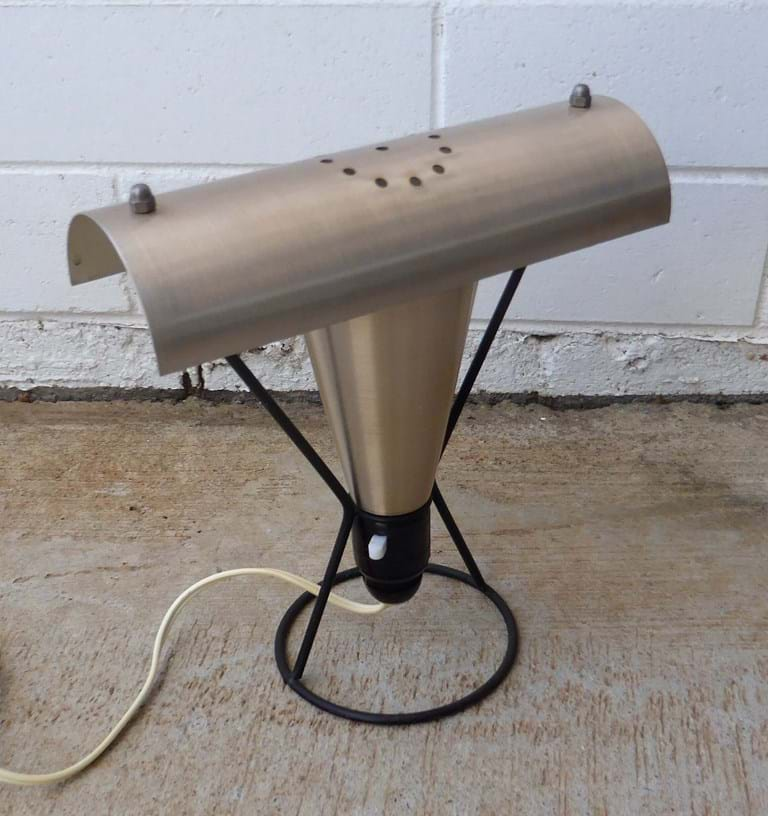 1950s–1960s aluminium TV lamp