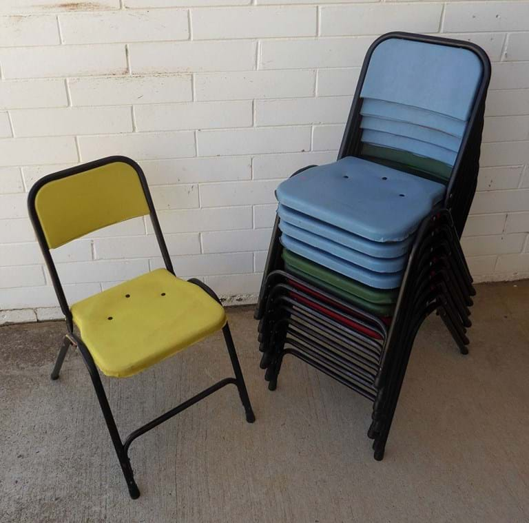 1960s stacking chairs by Namco